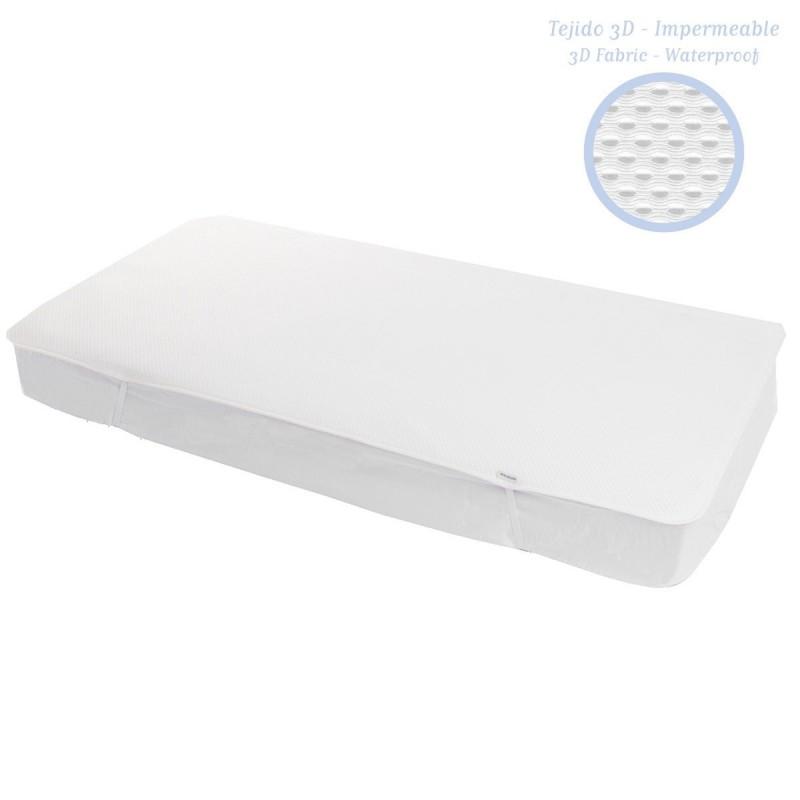 Protector de Colchón Camras 3D Para Cuna de 70x140 cm